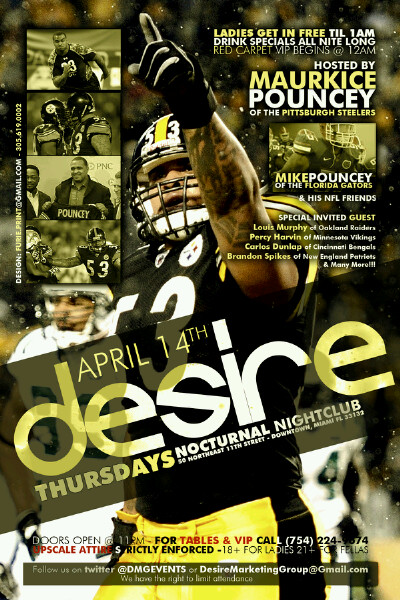 Maurkice Pouncey party