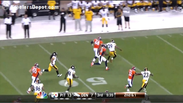 Thomas TD Steelers Broncos hold Mundy